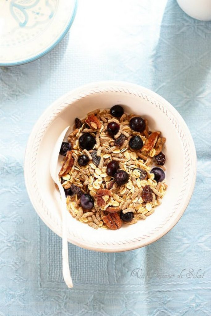 Muesli flocons d'avoine, son et raisins
