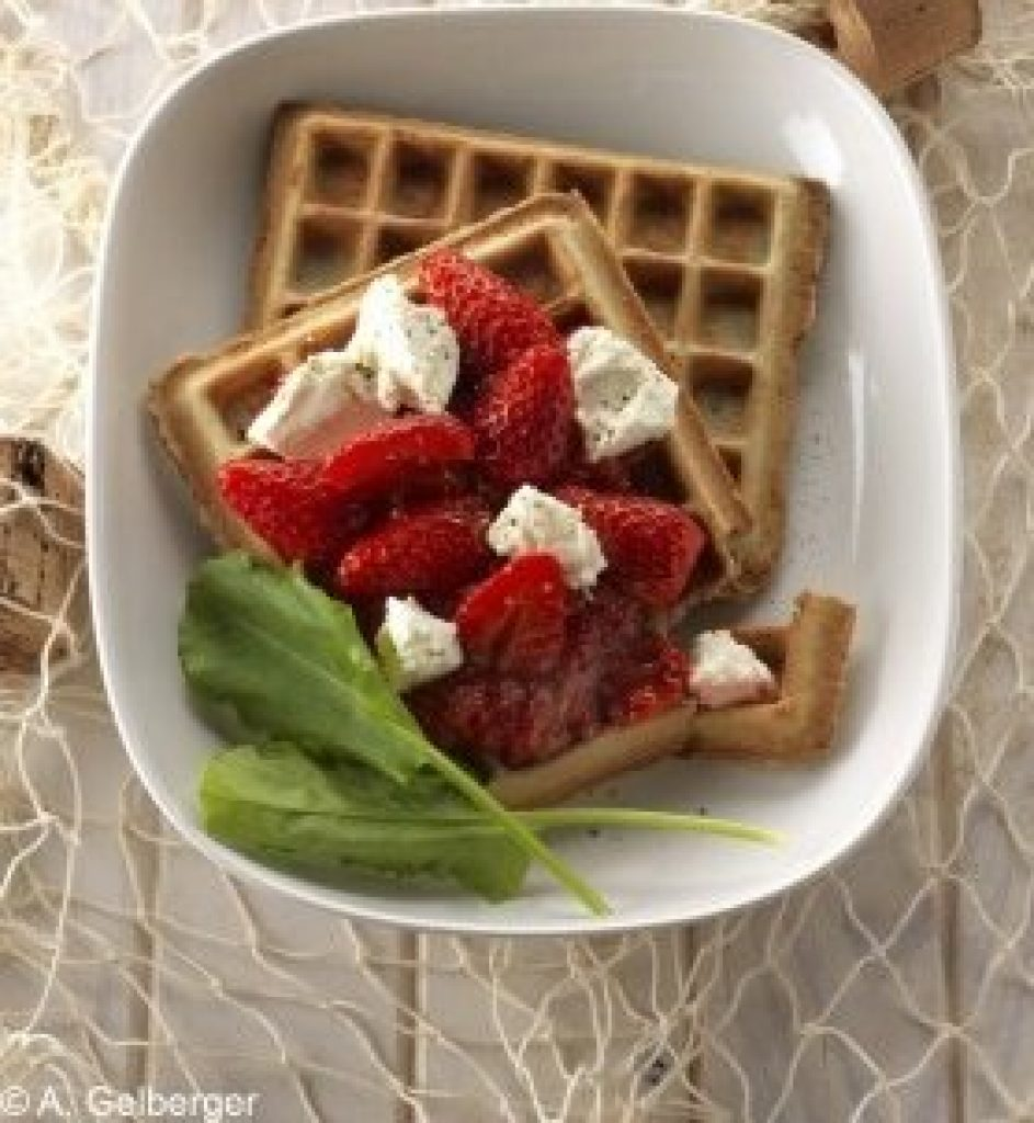 Gaufres au blé noir et fraises