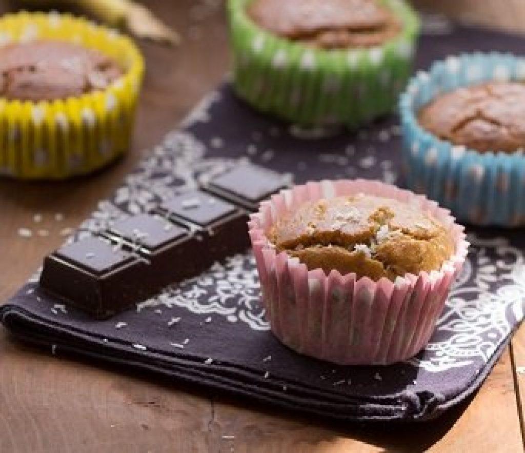 Muffins à la banane et noix de coco sans gluten