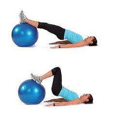 exercices pour muscler les jambes avec ballon de gym mon guide sport. Black Bedroom Furniture Sets. Home Design Ideas