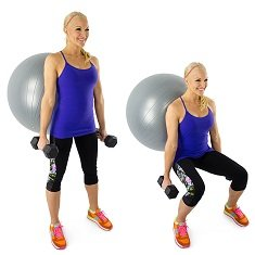 squat-balle-gym-mur-poids