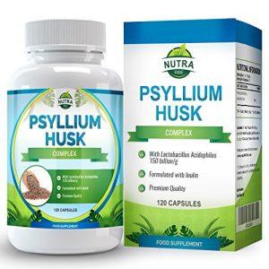 Enveloppes de Psyllium avec probiotiques de Nutra Rise