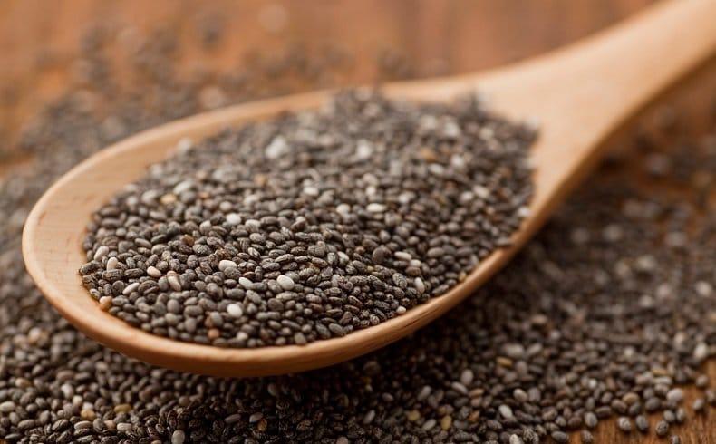 Fibres dans les graines de chia