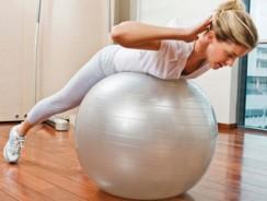 Exercices pour muscler le dos avec ballon de gym