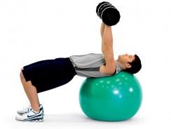 Exercices pour muscler les pectoraux avec ballon de gym